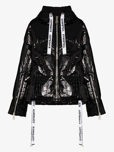 Khris croc effect puffer jacket