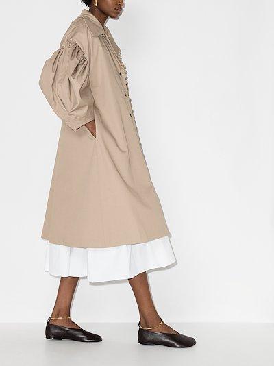 Charlotte gathered sleeve coat