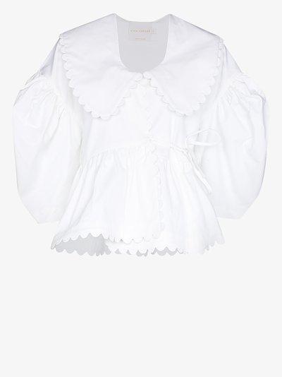 Shona scalloped blouse