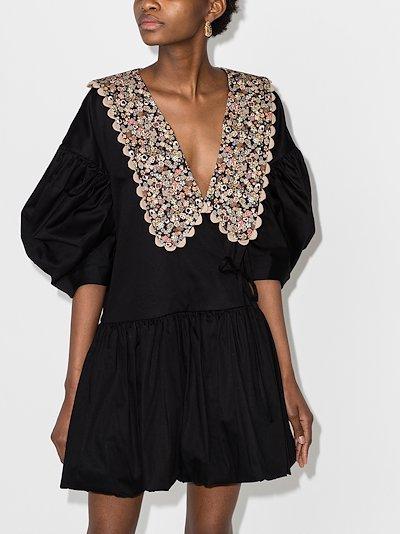 Victoria floral print collar dress