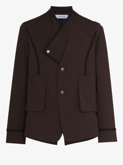 Arcadia layered cotton blazer