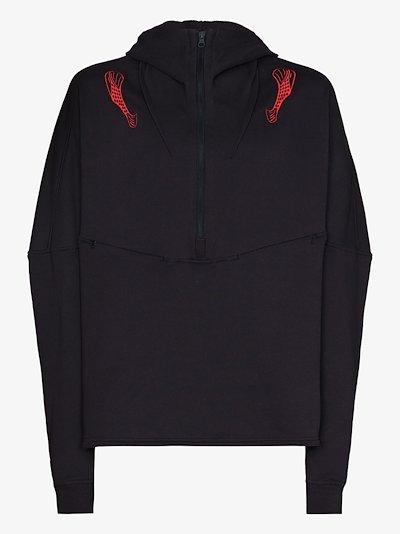 Brinda embroidered cotton hoodie
