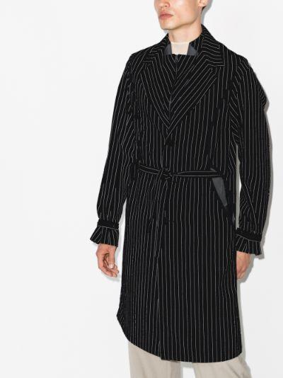 Freydal striped wool coat