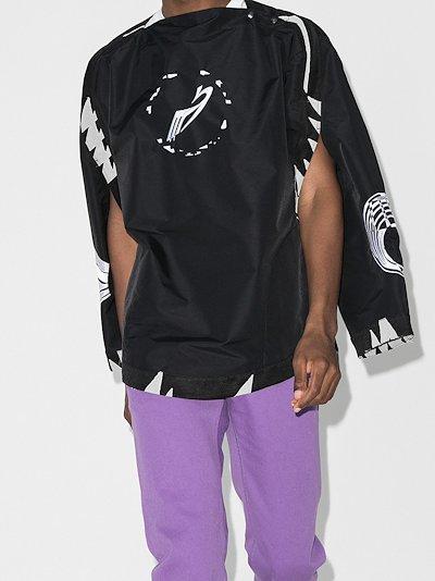 X Browns 50 Contrast trim logo jacket