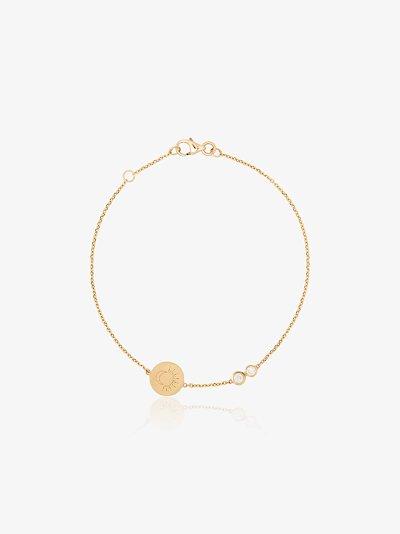 18K yellow gold Moon Sun diamond bracelet