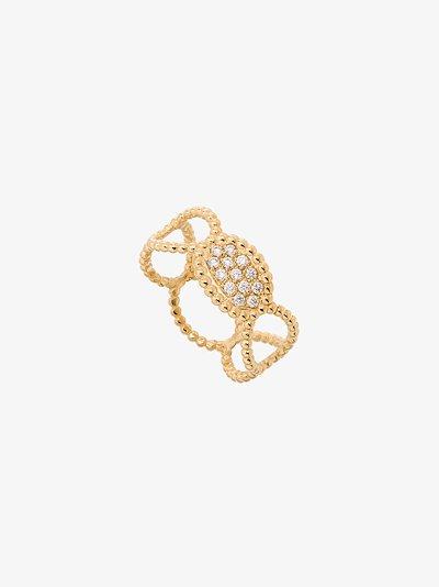 18K yellow gold Ray diamond ring
