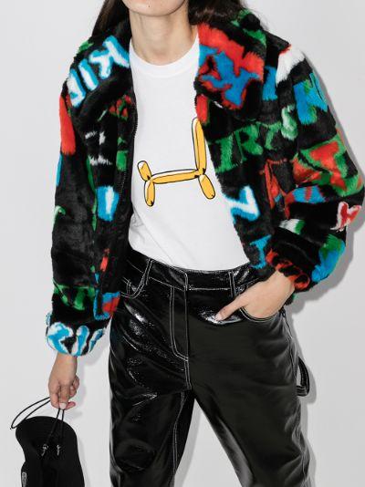 monogram print jacket