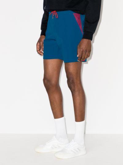 logo track shorts