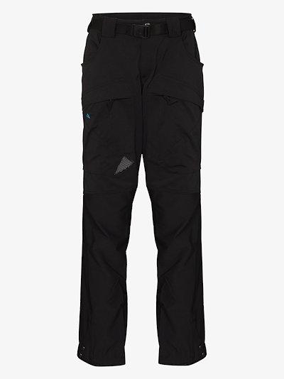 black Gere 2 straight leg performance trousers