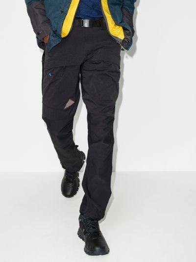 black Gere straight leg performance trousers