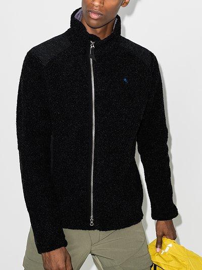 black Skoll recycled wool fleece jacket
