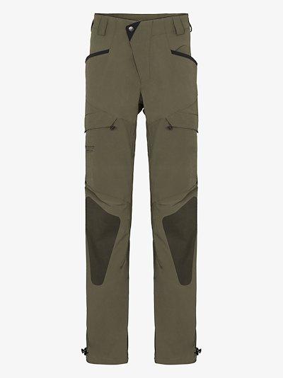 green Misty 2 straight leg performance trousers