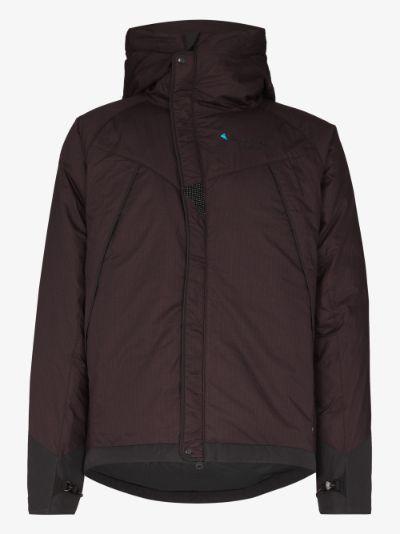 Purple Farbuate padded down jacket