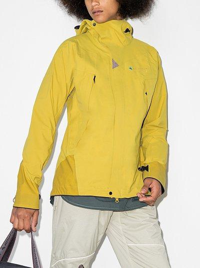 Yellow Allgrön 2.0 hooded waterproof jacket