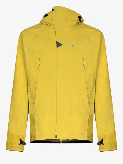 Yellow Allgrön hooded waterproof jacket