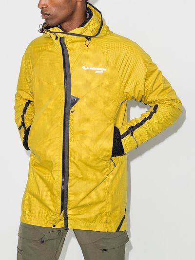 yellow Ansur Kalta hooded jacket