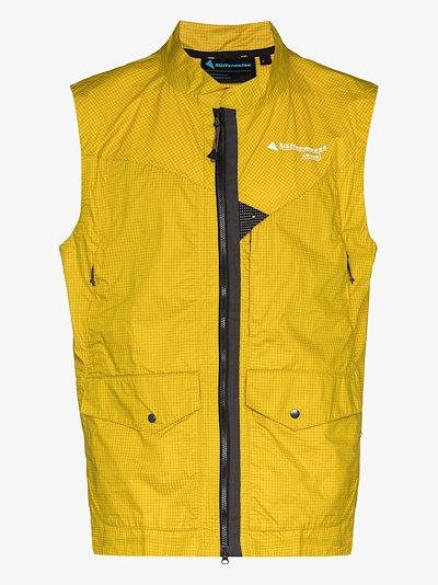 yellow Ansur Katla windproof gilet