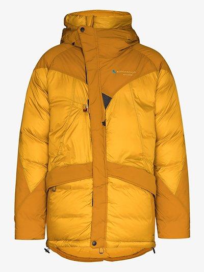 yellow Nifelheim Alpine down jacket