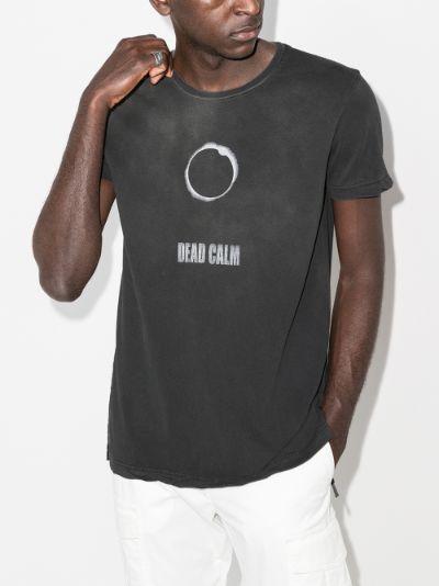 calm print cotton T-shirt