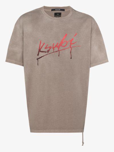 Flint logo print cotton T-shirt