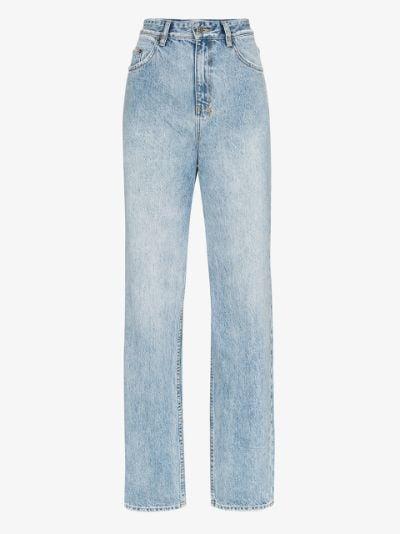 Playback high waist straight leg jeans
