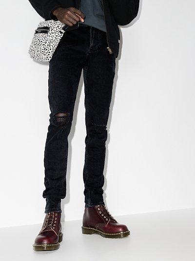 Van Winkle ripped knee skinny jeans