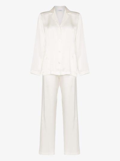 button-up silk pyjamas