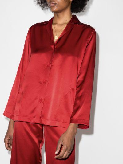 long sleeve silk pyjamas