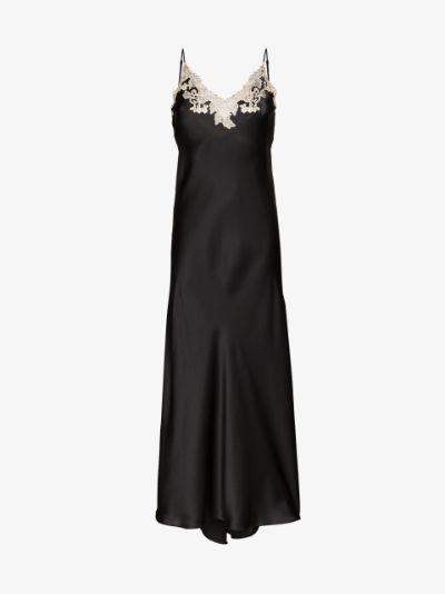 Maison lace trim Silk Nightdress