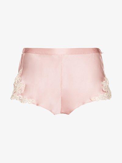 maison silk satin shorts