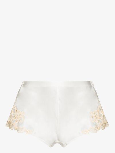 Maison silk shorts