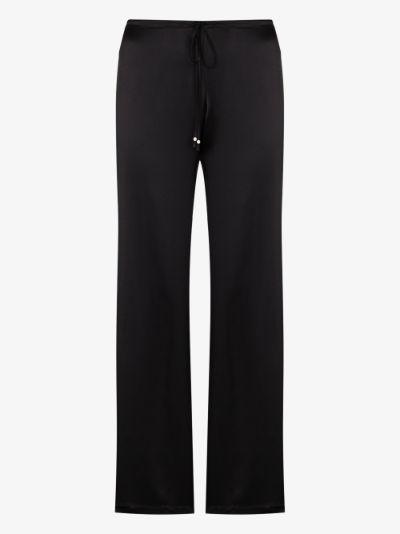 Petite Macramé Silk Pyjama Trousers