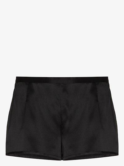pull-on silk shorts