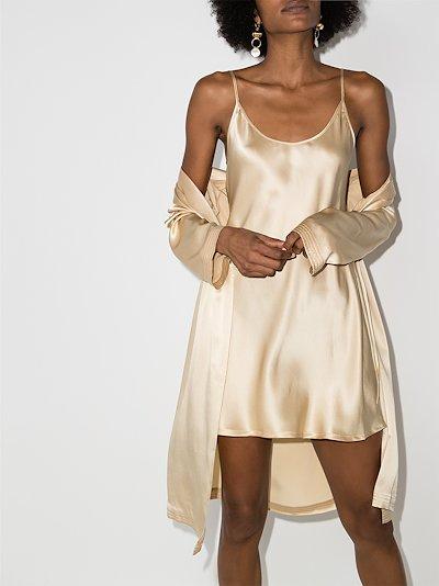 short silk slip dress