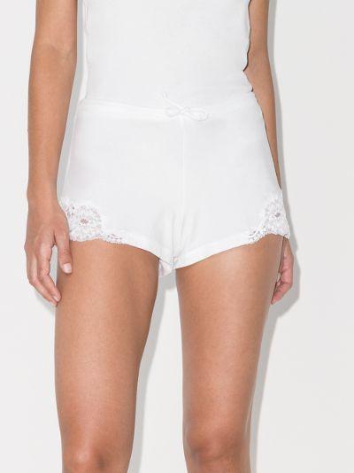 Souple lace trim cotton shorts