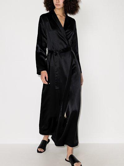 tie waist silk robe