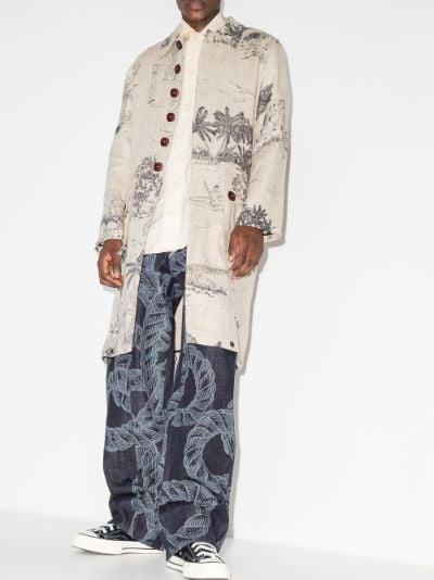 X Browns Focus John Naimbanna printed coat