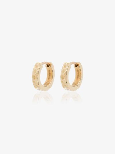 18K yellow gold Aspect hoop earrings