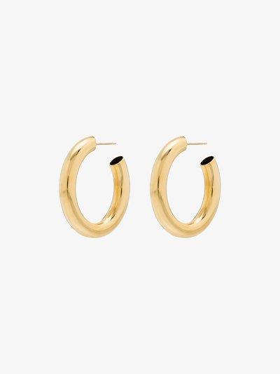 gold tone mini curve hoop earrings