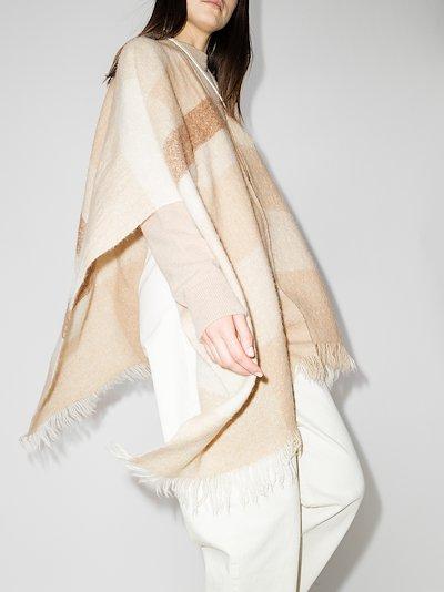 beige alpaca wool serape scarf