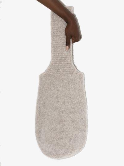 grey bouclé shoulder bag