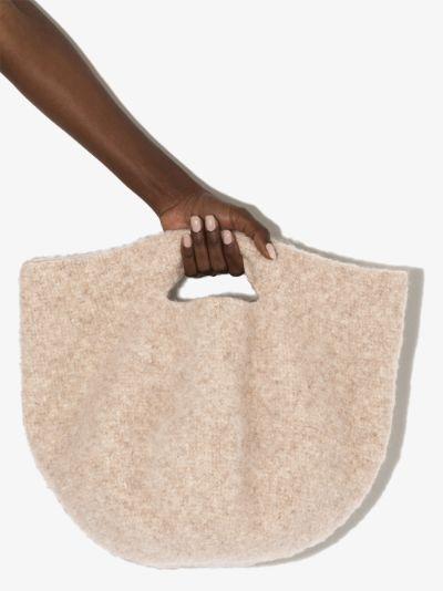 neutral bowl tote bag