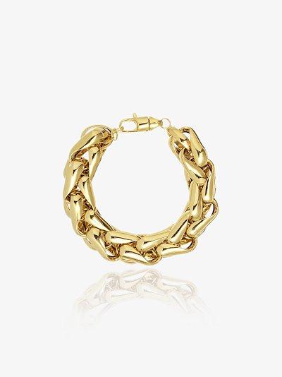 14K yellow gold large link bracelet