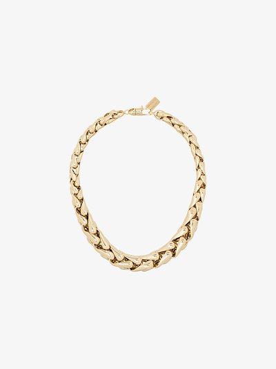 14K yellow gold large wheaten link bracelet