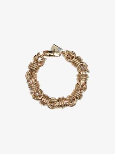 14K yellow gold medium link bracelet