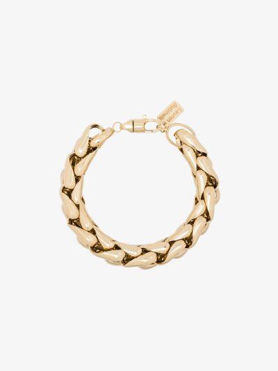 14K yellow gold medium wheaten link bracelet