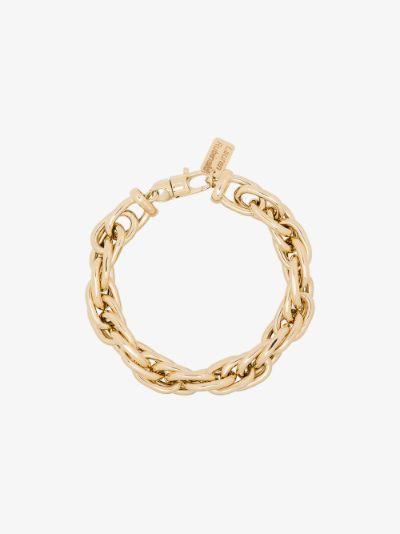 14K yellow gold small link bracelet