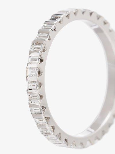 18K White Gold la 3g full pavé Diamond Ring