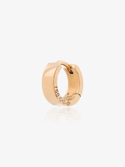 18K yellow gold La 1.9g Ribbon polished hoop earring