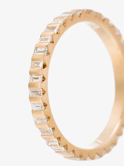 18K yellow gold La 3g full pavé polished diamond ring